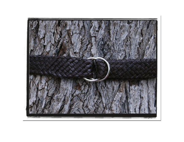 Mens Belt - Jim-Mens Plaited Leather Belt