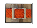 Ladies Belt - Anna-Ladies Plaited Leather Belt - Anna in Funky Orange