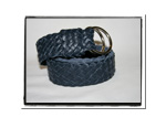 Childrens Belt - Clancy-Childrens Boys Girls Plaited Leather Belt Navy