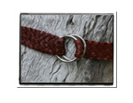Childrens Belt - Madison-Childrens Boys Girls Plaited Leather Belt Brown