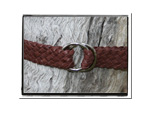 Childrens Belt - Tyler-Childrens Boys Girls Plaited Leather Belt Brown