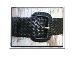 Ladies Belt - Belinda-Bush Babes Ladies Plaited Leather Belt - Belinda in Classic Black - Christmas Gift