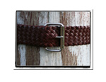 Ladies Belt - Bonny-Bush Babes Plaited Leather Belt - Bonny in Rich Brandy