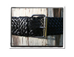 Ladies Belt - Brenda-Bush Babes Ladies Plaited Leather Belt - Brenda in Classic Black