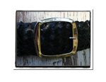 Ladies Belt - Hannah-Bush Babes Ladies Plaited Leather Belt - Hannah in Classic Black