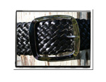 Ladies Belt - Holly-Bush Babes Ladies Plaited Leather Belt - Holly in Classic Black