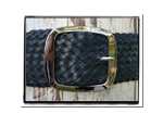 Ladies Belt - Holly-Bush Babes Ladies Plaited Leather Belt - Holly in Navy
