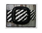 Ladies Belt - Jemma-Bush Babes Ladies Womens Plaited Leather Belt Black and White