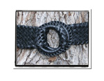 Ladies Belt - Nelly-Bush Babes Ladies Plaited Leather Belt Black