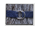 Ladies Belt - Nikki-Bush Babes Ladies Plaited Leather Belt Blue
