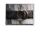Ladies Belt - Nikki-Bush Babes Ladies Plaited Leather Belt Brown