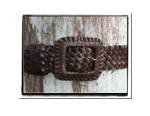 Ladies Belt - Rebecca-Bush Babes Ladies Plaited Leather Belt Brown