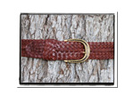 Mens Belt - James-Mens Plaited Leather Belt