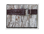 Mens Belt - William-Mens Plaited Leather Belt