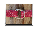 Girls Belt - Abby-Bush Babes Girls Childrens Plaited Leather Belt Pink