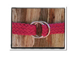 Girls Belt - Alice-Bush Babes Girls Childrens Plaited Leather Belt Pink