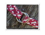 Girls Belt - Grace-Bush Babes Girls Childrens Plaited Leather Belt Pink