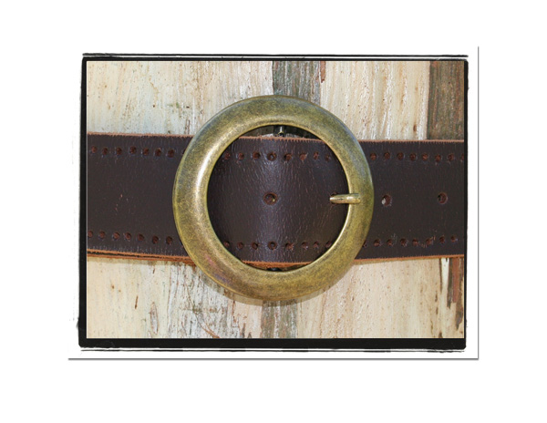 Ladies Belt - Tamara-Bush Babes Ladies Leather Belt Brown